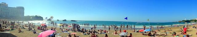 The main beach in Biarritz