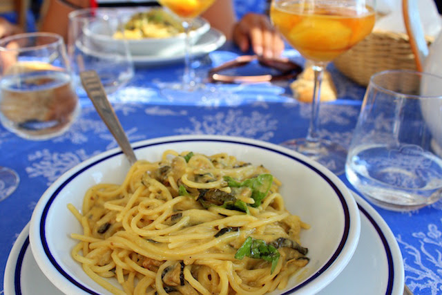 Spaghetti with zucchini from Maria Grazia in Nerano