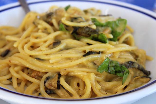 Spaghetti with zucchini from Maria Grazia restaurant in Nerano