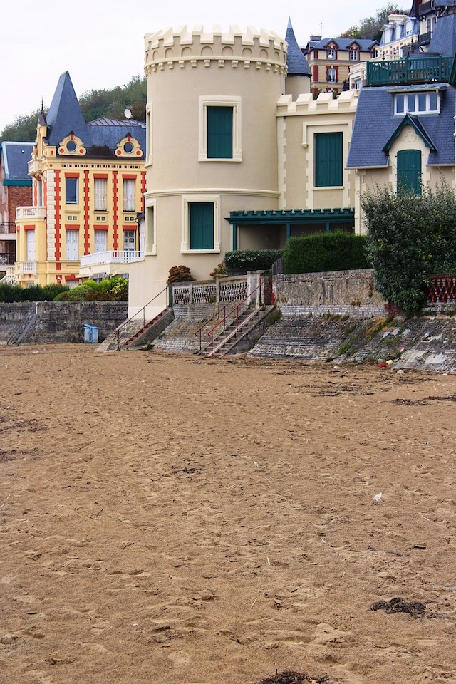 The beach in Trouville, Normandy