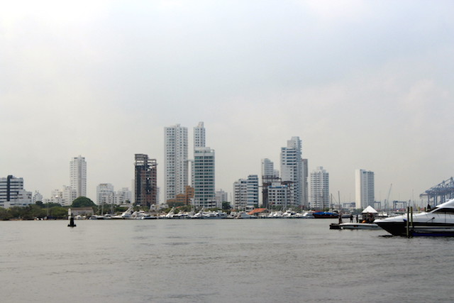 Cartagena modern city, Colombia