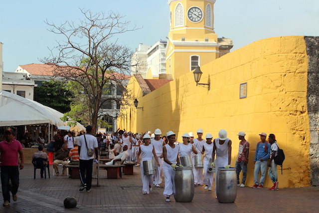 Parade in Cartagena, Colombia