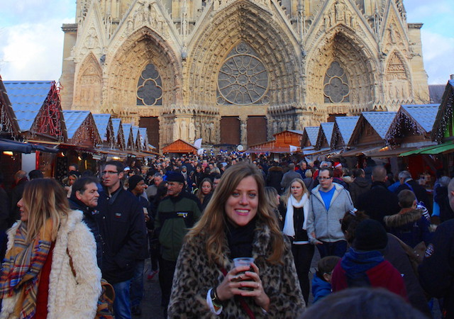 Christmas market in Reims, France