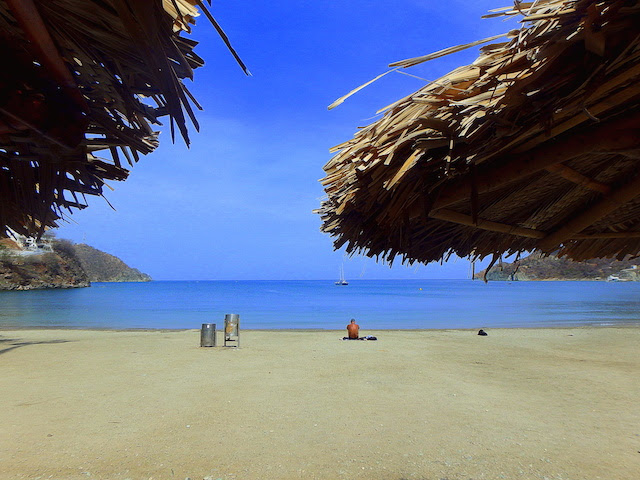 The beach in Taganga, Colombia