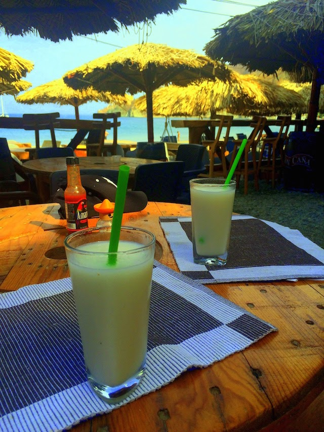 Guanabana fresh juice at Taganga Beach Bar in Taganga, Colombia