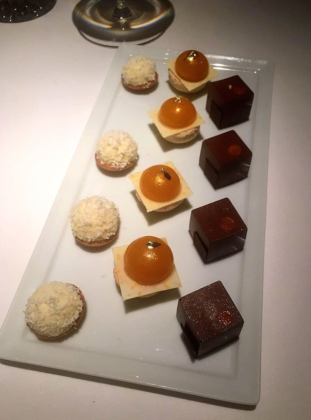 Desserts at Anne-Sophie Pic restaurant, Valence