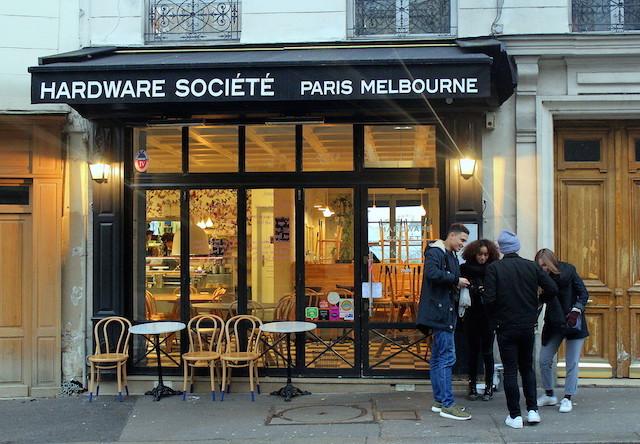 Australian coffee shop in Paris The Hardware Société
