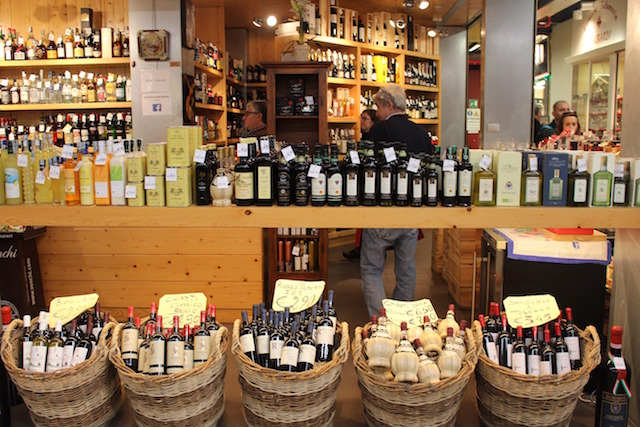 Wine shop at Florence central market