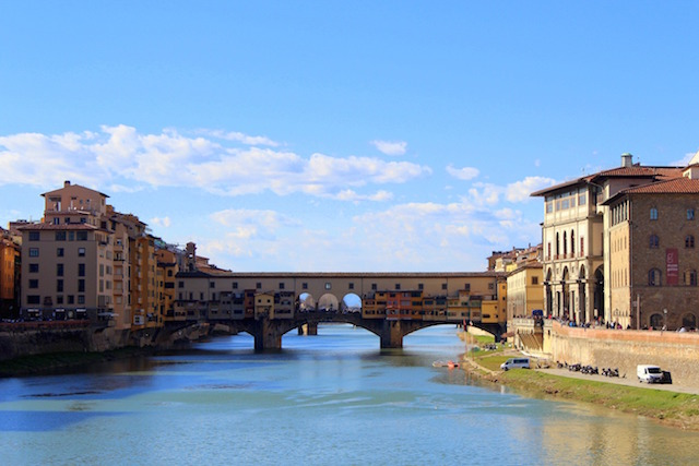 View over the Ponte Vecchio in Florence