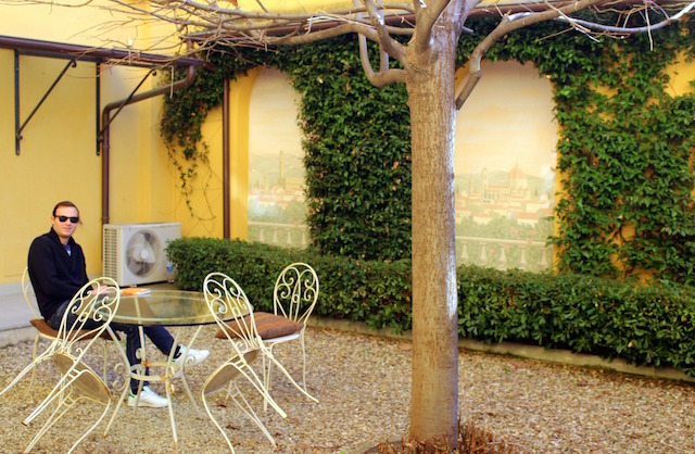 Private garden at Firenze Suite a luxury hotel in the centre of Florence
