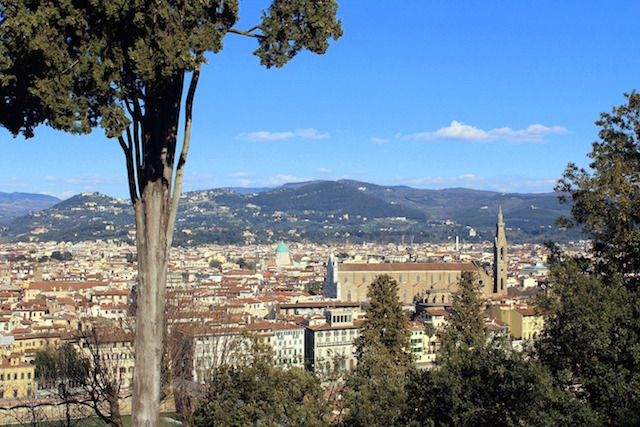 View over Florence from the Bardini gardens