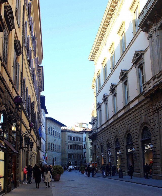 Wandering via Tornabuoni in Florence