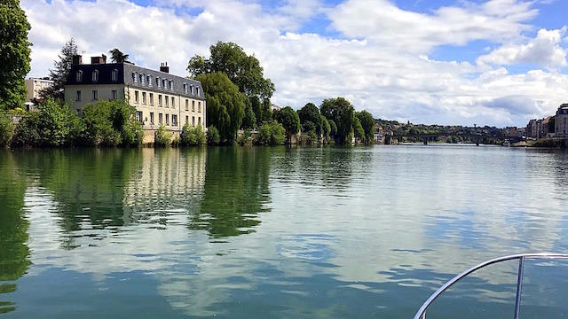 View from the Seine of Corbeil Essonnes