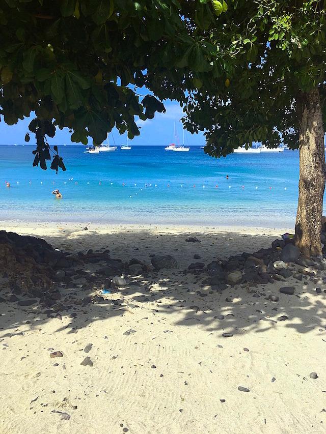 The beach in Le Marin, Martinique