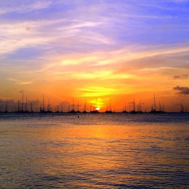 Sunset in Sainte Anne, Martinique