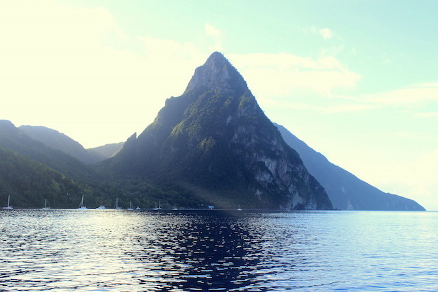 View over one of the Pitons