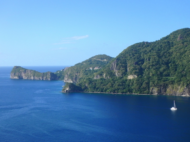 View over the ocean in St. Lucia