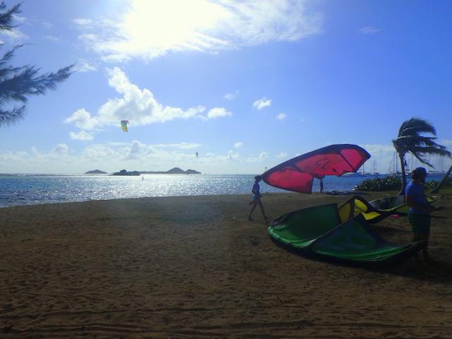 Kitesurf in Union island, the Grenadines