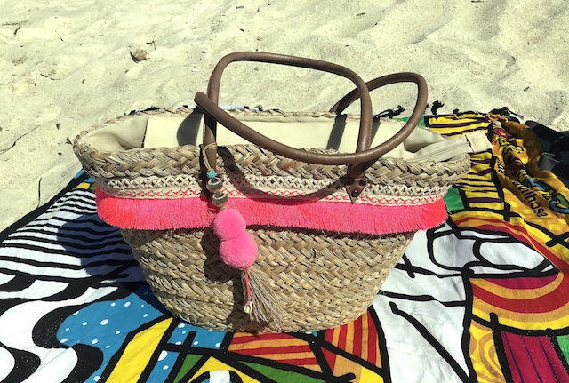 Amenapih beach basket Rita Pink
