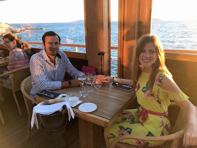 Romantic dinner at Restaurant Peron, Marseille