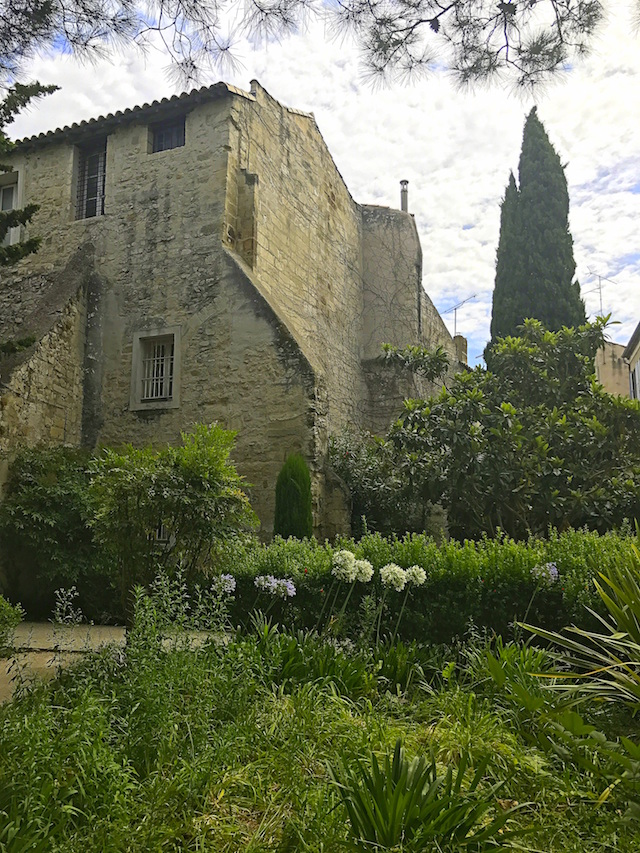 Cute garden in Avignon, France