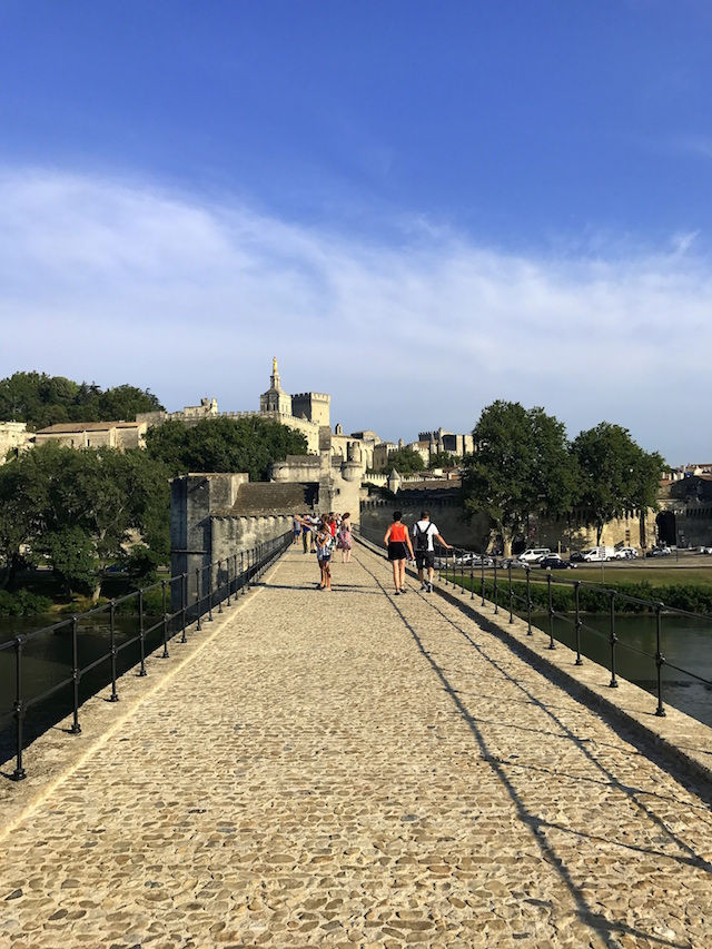 The Pont d'Avignon a medieval bridge in the French town of Avignon
