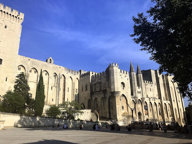The Palais des Papes in Avignon, France