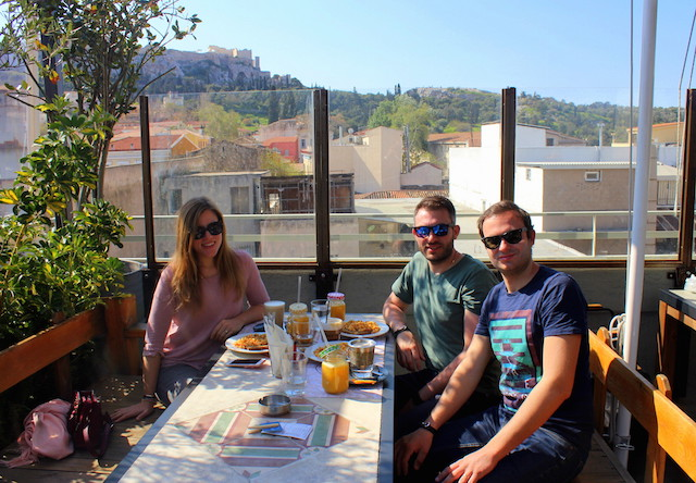Breakfast at Couler Locale in Athens