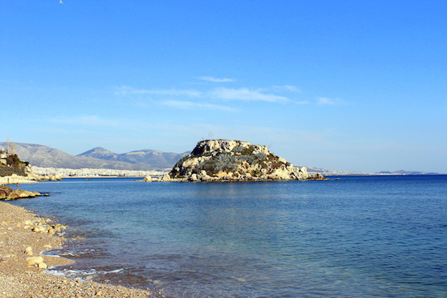 Beach in Mikrolimano, Athens