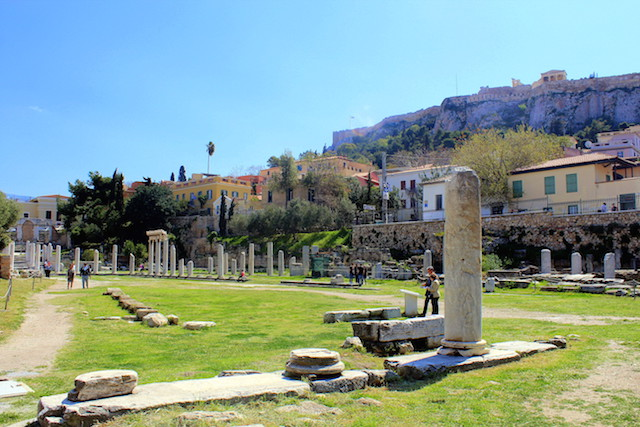 Visiting the Roman Agora in Athens
