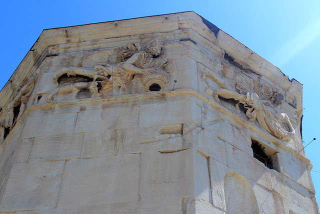 Detail of the Tower of Winds in Athens