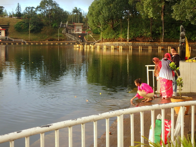 Grand Bassin, a Indian holy lake in Mauritius