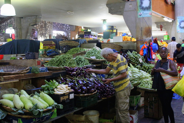 The market in Port Louis, Mauritius