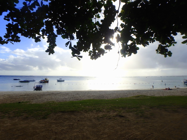 Indian lunch at Trou aux Biches beach in Mauritius