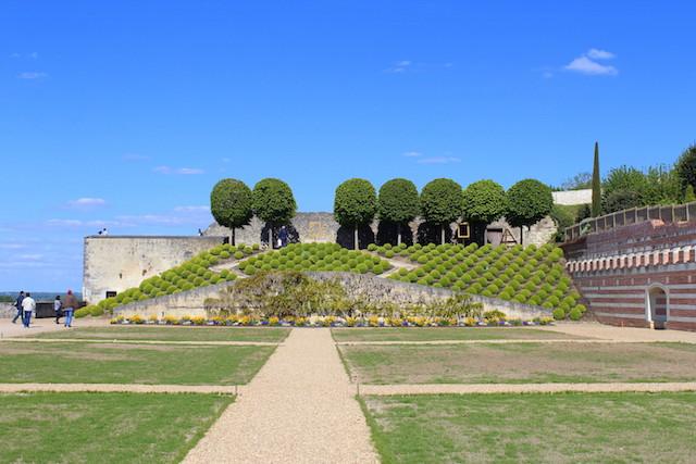 The castle of Amboise garden
