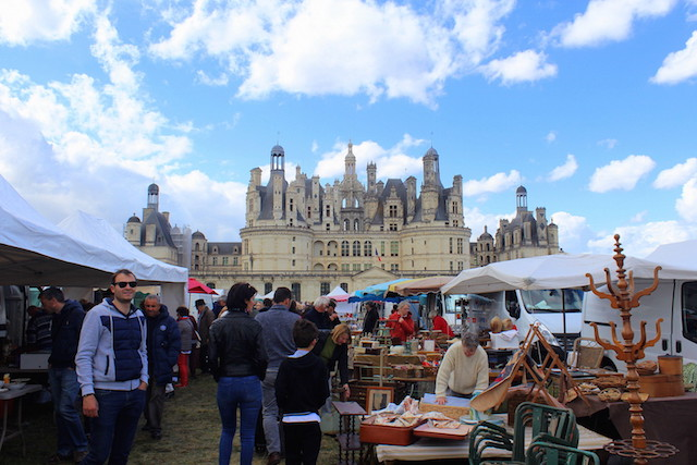 Flea market at Chambord castle