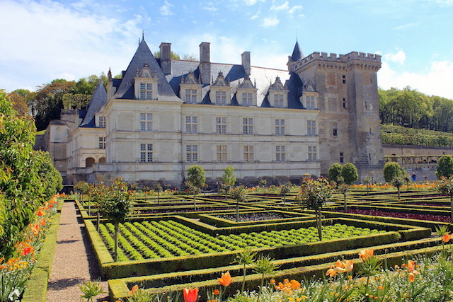 Villandry castle in the Loire Valley, france