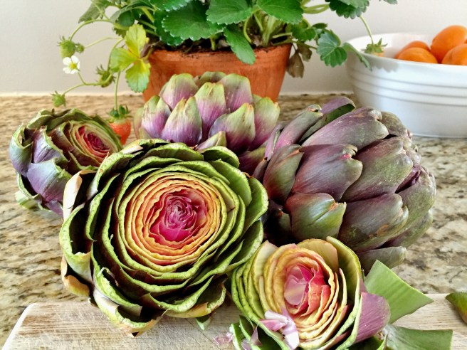 Artichokes with lemon butter   The Secret Life of Bee