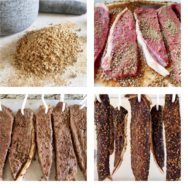Homemade Biltong Process