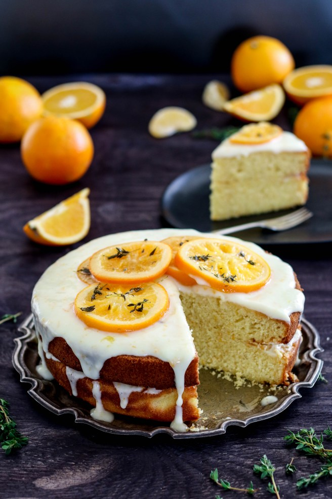 orange tea cake with greek yoghurt frosting | The Secret Life of Bee