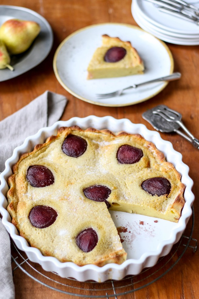 red wine poached pear clafoutis | The Secret Life of Bee