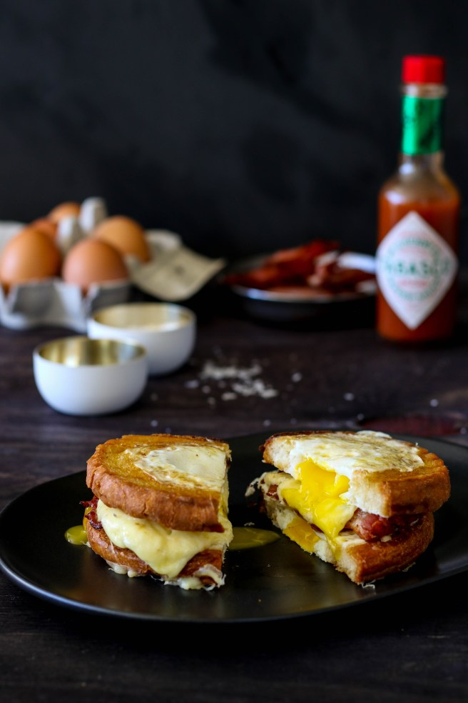 bacon & egg grilled cheese | The Secret Life of Bee