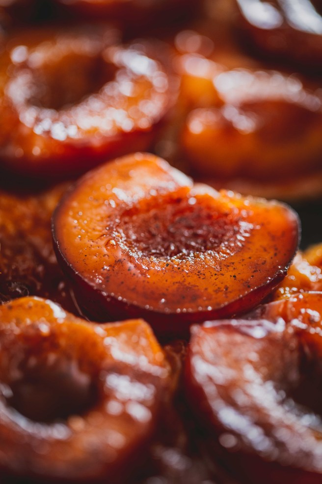 Spiced Plum Tarte Tatin with Shiraz Reduction | The Secret Life of Bee