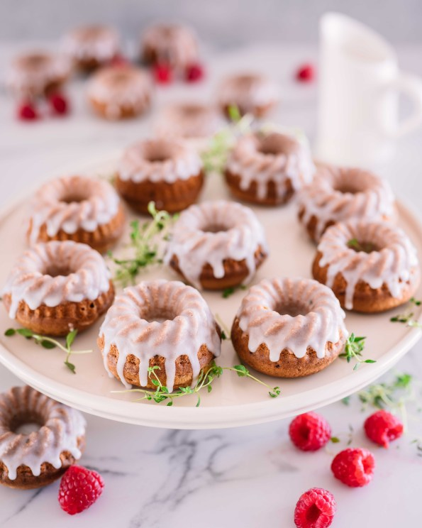 Raspberry & Vanilla Mini Bundt Cakes | The Secret Life Of Bee