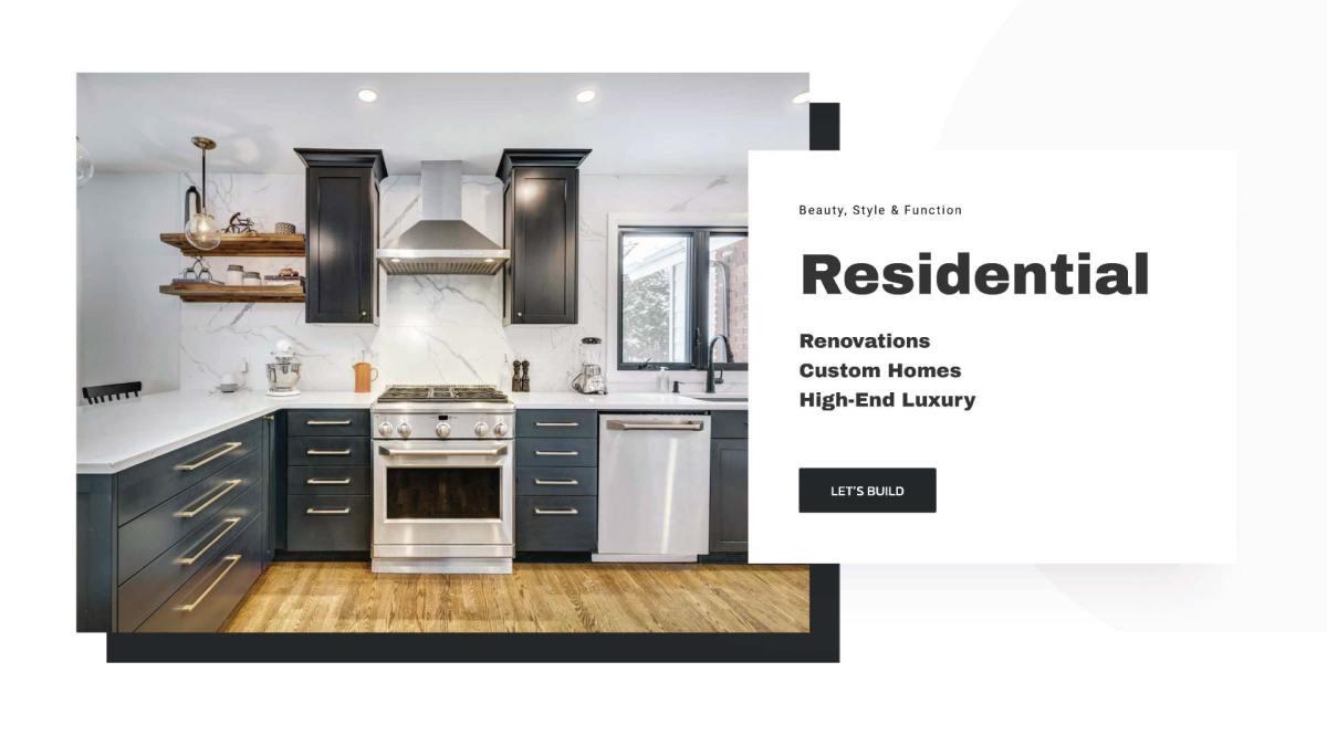SJOC Construction Inc. Residential Web Design - thesecretservice