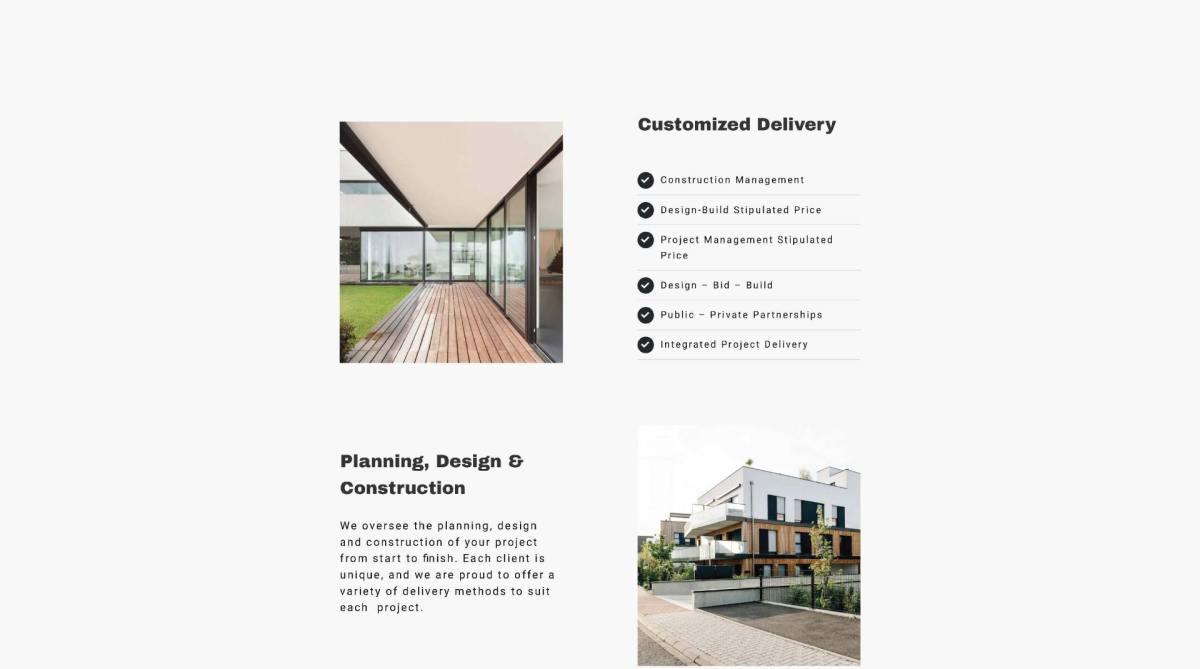 SJOC Construction Inc. Custom Delivery Web Design - thesecretservice