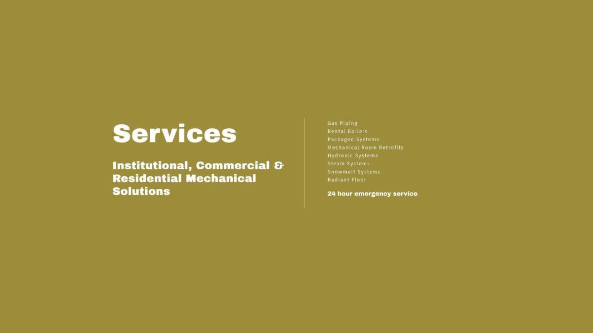 Cordell Mechanical Inc. Web Design