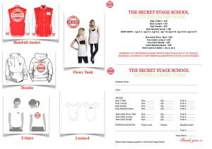 The Secret Clothing Order Form