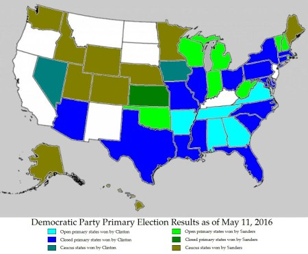 map of the democratic