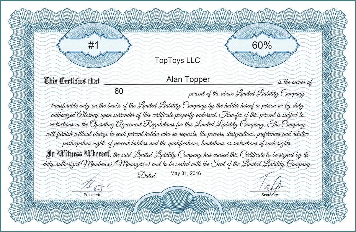 Disney Stock Certificate Template Templates 1 Resume